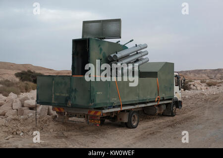 A decoy missile system of the Israeli military defense deployed in the western of the Arabah valley known in Hebrew - Stock Photo