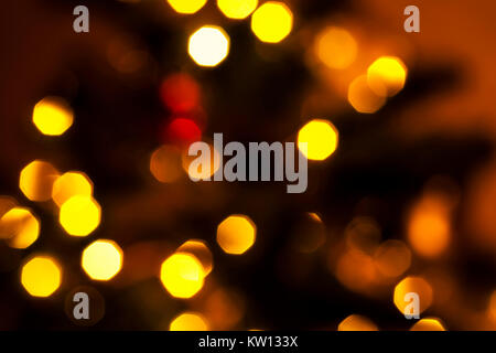 Colorful bokeh. Creative image of bright lights. Blurred background. - Stock Photo