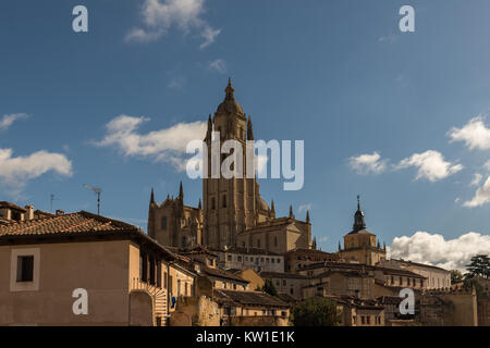 Partial view of the old town of Segovia. Spain. - Stock Photo