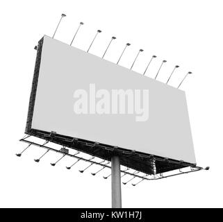 Billboard with empty screen - Stock Photo