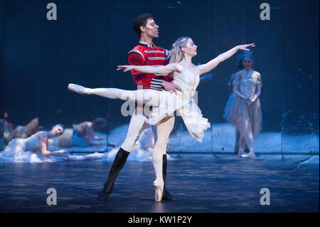 Birmingham Royal Ballet brings its Christmas favorite, The Nutcracker, to the Royal Albert Hall for the first time, - Stock Photo