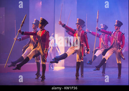 The Nutcracker ballet, brought to the Royal Albert Hall, London, for the first time by Birmingham Royal Ballet between - Stock Photo