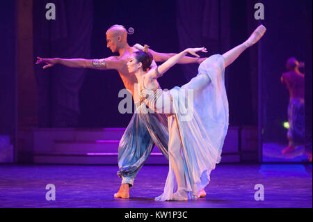 The Nutcracker ballet, brought to the Royal Albert Hall, London, by the Birmingham Royal Ballet between 28th and - Stock Photo