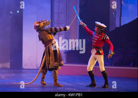 The Nutcracker ballet, brought to the Royal Albert Hall, London, for the first time by Birmingham Royal Ballet, - Stock Photo