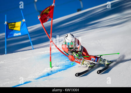 Lienz, Austria. 29th Dec, 2017. Ragnhild Mowinckel of Norway competes during the FIS World Cup Ladies Giant Slalom - Stock Photo