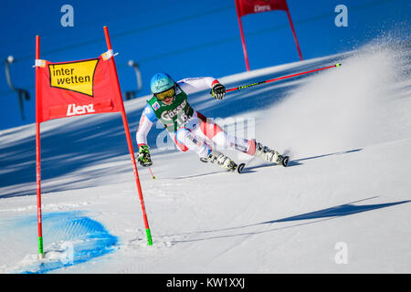 Lienz, Austria. 29th Dec, 2017. Wendy Holdener of Switzerland competes during the FIS World Cup Ladies Giant Slalom - Stock Photo
