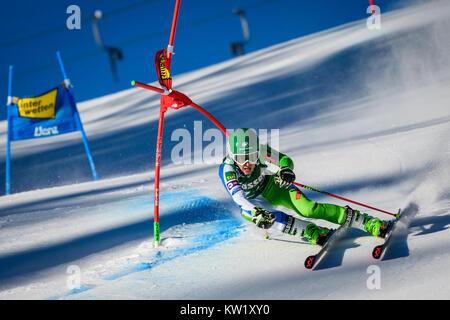 Lienz, Austria. 29th Dec, 2017. Tina Robnik of Slovenia competes during the FIS World Cup Ladies Giant Slalom race - Stock Photo