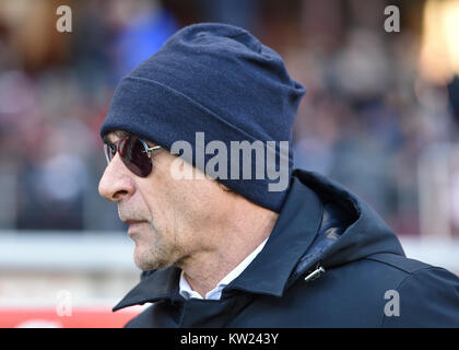 Turin, Italy. 30th Dec, 2017. Davide Ballardini head coach of Genoa CFC, during the Serie A football match between - Stock Photo