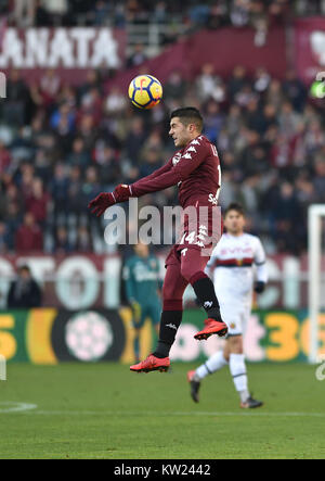 Turin, Italy. 30th Dec, 2017. Iago Falque (Torino FC), during the Serie A football match between Torino FC and SSC - Stock Photo