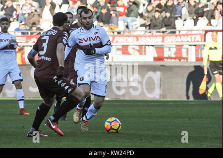 Turin, Italy. 30th Dec, 2017. Goran Pandev (Genoa CFC) during the Serie A football match between Torino FC and Genoa - Stock Photo