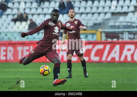Turin, Italy. 30th Dec, 2017. M'Baye Niang (Torino FC) during the Serie A football match between Torino FC and Genoa - Stock Photo