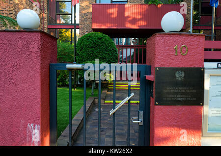 The Sydney Australia Consulate General of the Republic of Poland in the suburb of Woollahra - Stock Photo