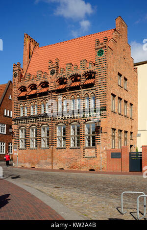 Wismar, former Archidiakonat on Saint Marien Kirchhof, ehemaliges Archidiakonat auf dem Sankt Marien Kirchhof - Stock Photo