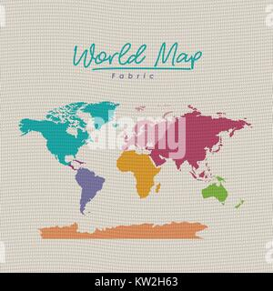 World map design on white background on environment concept earth world map fabric colorful on white background stock photo gumiabroncs Gallery