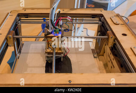 TRENTO, Italy, june 2017: Ultimaker original 3D printers in the new Science Museum in Trento, Trentino South Tyrol, - Stock Photo