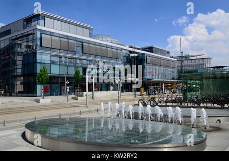 Shopping centre ball house on the Viennese place, Dresden, Einkaufszentrum Kugelhaus am Wiener Platz - Stock Photo
