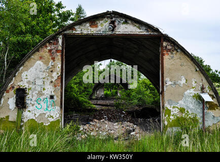 The old Soviet air base of Milovice - Czech Republic - Stock Photo