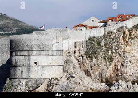 Wall of old city Dubrovnic, Croatia - Stock Photo