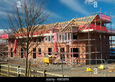 Construction of affordable housing, Grantham, Lincs, UK - Stock Photo