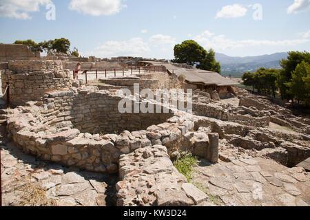The Kouloures, Festos, archeological area, Crete island, Greece, Europe - Stock Photo