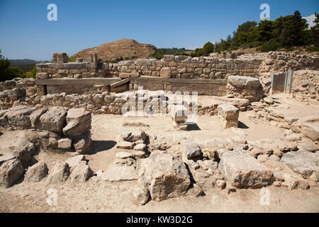 The west wing, Festos, archeological area, Crete island, Greece, Europe - Stock Photo