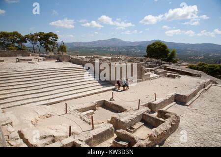 West Propylaea, Festos, archeological area, Crete island, Greece, Europe - Stock Photo