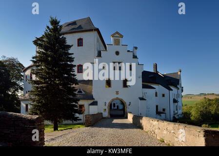 The middle Erzgebirge, castle Cloud stone, Mittleres Erzgebirge, Schloss Wolkenstein - Stock Photo