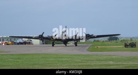 Boeing B 17G Flying Fortress 'Sally B' (18172628452) - Stock Photo