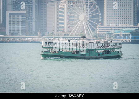 star ferry on victoria harbour hong kong - Stock Photo