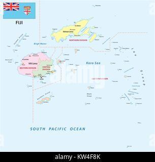 Fiji Island Of Viti Levu Suva Bus Station People Stock Photo - Republic of fiji map