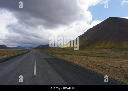 The Ring Road in Snaefellsnes peninsula in West Iceland. - Stock Photo
