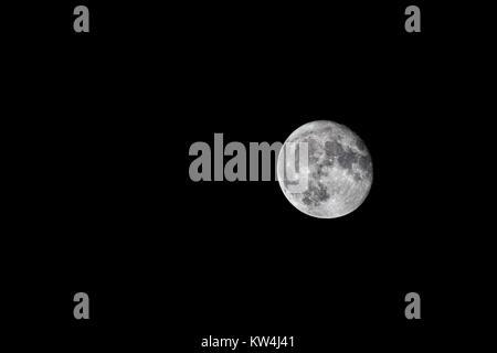 moon on the dark night - Stock Photo