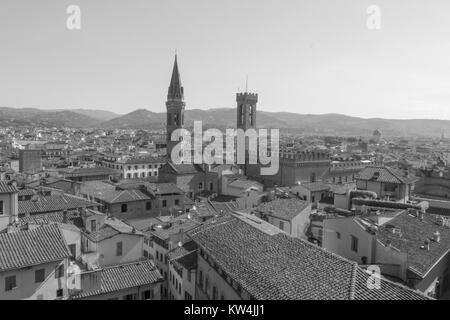 Italy, Florence - May 18 2017: the view of Florence from Palazzo Vecchio on May 18 2017 in Florence, Tuscany, Italy. - Stock Photo