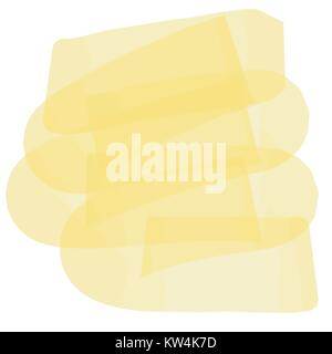 yellow transparent marker pen pattern, vector Illustration - Stock Photo
