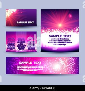 Set of abstract sunburst background templates - Stock Photo