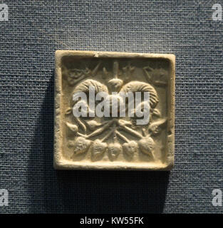 Blazon. Mold of Seal, Indus valley civilization - Stock Photo