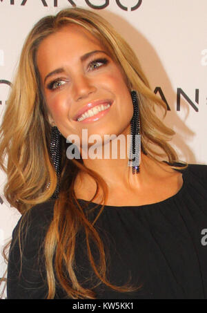 BARCELONA, SPAIN - JANUARY 27:  Sylvie Van Der Vaart  at the Mango Fashion show held at the Born Centre Cultural - Stock Photo