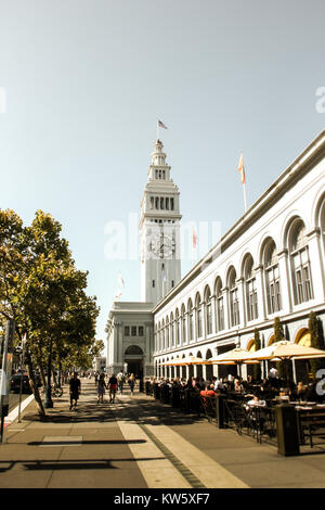 The ferry building in San Francisco, California, United States - Stock Photo