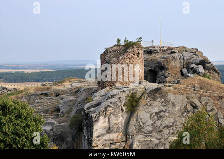 Ruined castle rain stone, Burgruine Regenstein - Stock Photo