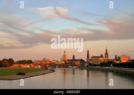 Town view of Dresden, Dresden, Stadtansicht von Dresden - Stock Photo