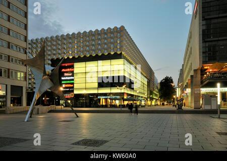 Centrum gallery on the Prague street, Dresden, Centrumgalerie auf der Prager Strasse - Stock Photo