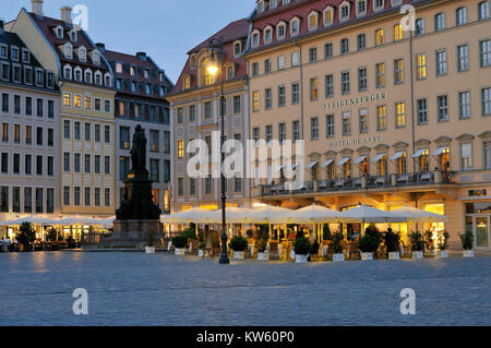 Dresden new market, Dresden Neumarkt - Stock Photo