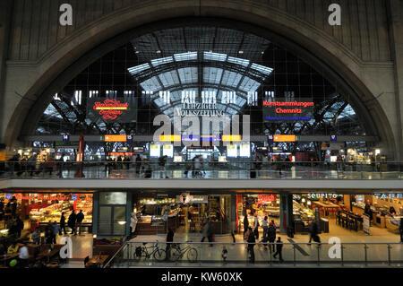 Leipzig railway station passages, Leipzig Bahnhofspassagen - Stock Photo