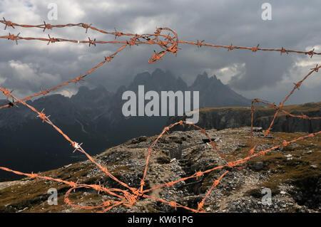 The Dolomites world war museum, Dolomiten Weltkriegsmuseum - Stock Photo