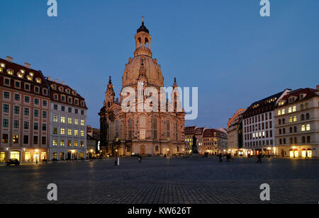 Church of Our Lady, Dresden, Frauenkirche - Stock Photo