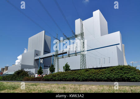Power station box mountain, Kraftwerk Boxberg - Stock Photo