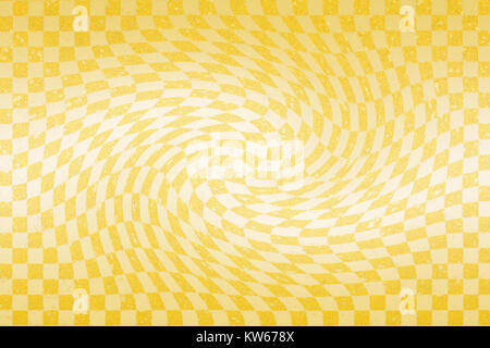 Japanese gold checkered pattern paper texture abstract - Stock Photo
