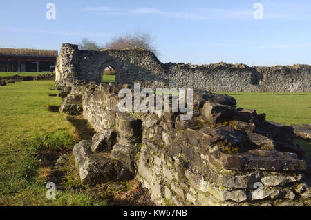 Lesnes Abbey ruins (12th century), Thamesmead, near Abbey Wood, south-east London, England, United Kingdom, 18 December - Stock Photo