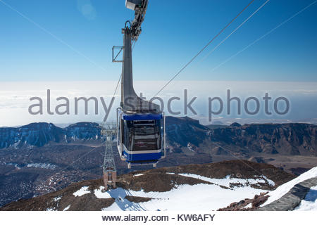 Gondola at El Tiede National Park, Tenerife, Canary Islands, Spain. - Stock Photo