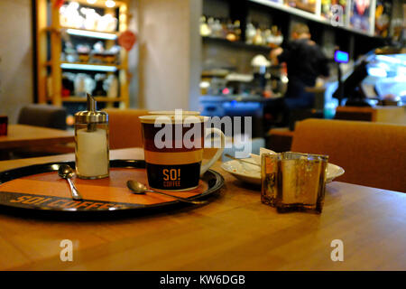 Cafe at Katowice Airport - Stock Photo